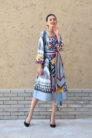 Amina Suzani Ikat Dress