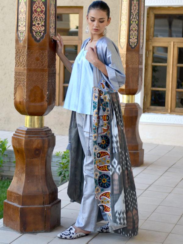 Bushra One of a Kind Ikat Kaftan
