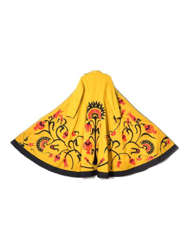 Mustard Yellow Embroidered Kaftan